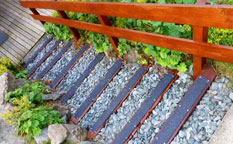 Photo gallery - decking strips, step strips.