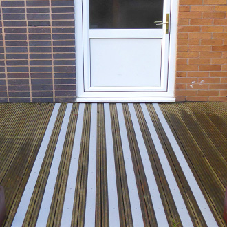 Non-slip strips for safer doorways and entrances.