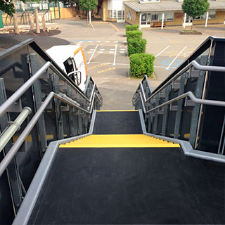 School stairs, ramps and walkways installation completed.