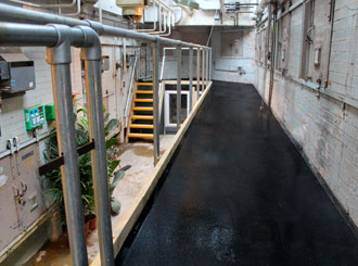1. Anti-slip flooring ensures good health safety and best working practices at ZSL London Zoo.
