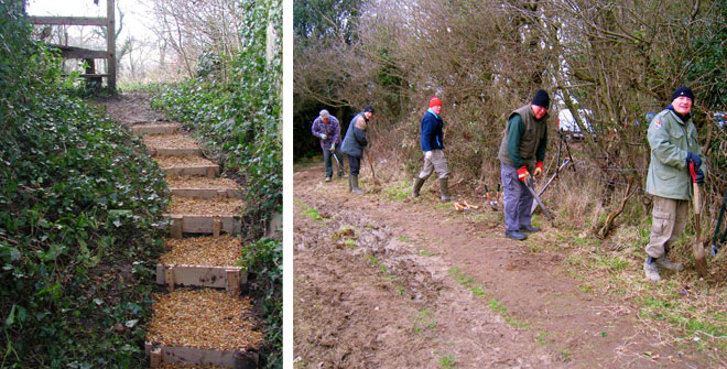 3 the volunteer group clearing countryside walks and pathways