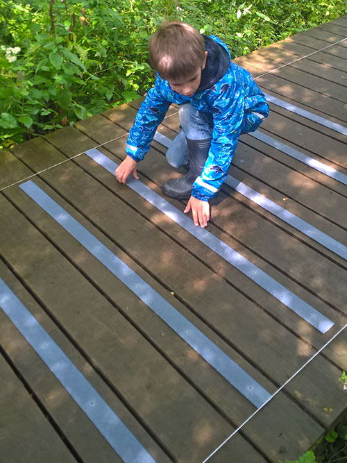 Fitting non slip strips, pre-drilled with matching screws is childsplay!