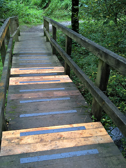 Safe Tread non slip decking strips were the most suitable solution for the Nature Reserve in Allerdale, Cumbria.