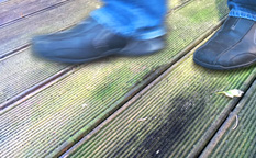 Slippery decking problem - our anti slip solution...