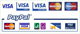 Payment by Sage Pay or Pay Pal.