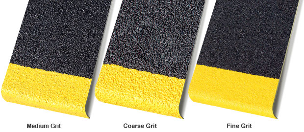 anti slip stair treads grit comparison