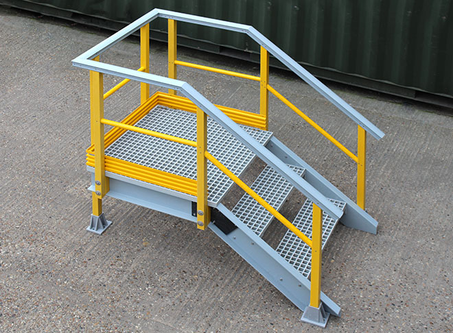 For doorway access, stairways, inspection platforms, assembly lines and many other industrial applications.