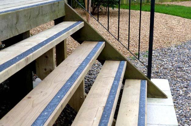 Non slip decking strips step strips photo gallery 2 for Garden decking non slip
