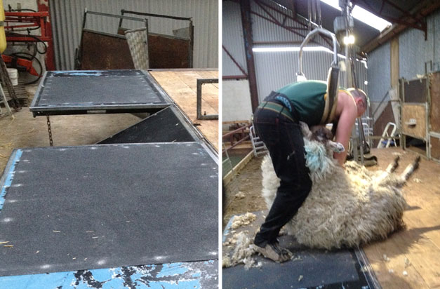 Covering platforms, non slip floor sheets improve farming health and safety.