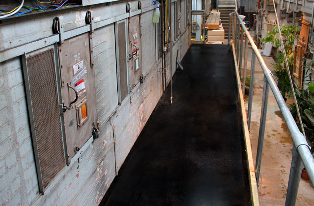 Anti slip GRP gritted sheets for gangways walkways safety.