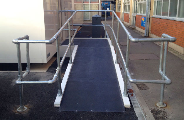 Non slip floor sheets ideal for access ramps in hospitals, schools, colleges.