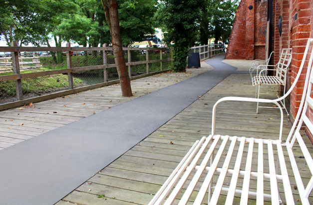 Anti-slip floor sheets create safer pathways and walkways in public spaces.