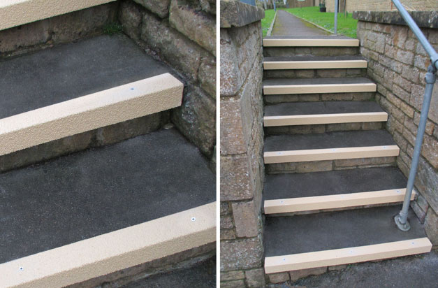 Anti Slip Stair Nosing Non Slip Step Public Access